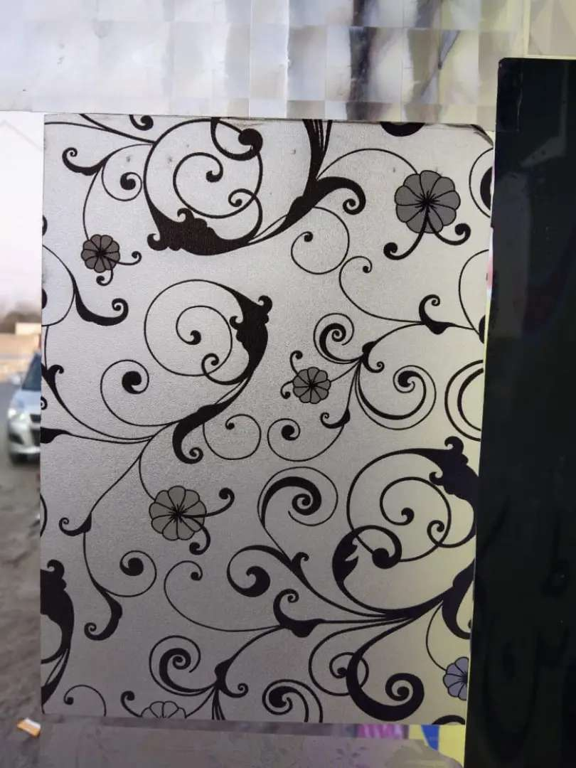 Art fantasy wall paper and glass paper and curtains