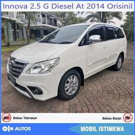 [Dp29jt] Innova 2.5 G Diesel At 2014 Orisinil Bisa Kredit