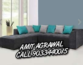 Black And Blue Sectional Couch