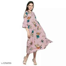 Women's crape kurthis in 4 colours and designs