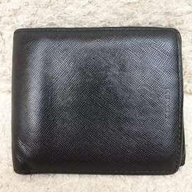 Dompet Coach hitam kulit asli