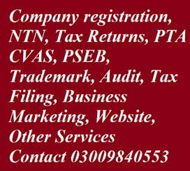 0300~9840553 Industry Factory Shop Company Registration Bahria Town