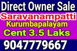 Kurumbapalayam Dtcp Site sale near Indian public