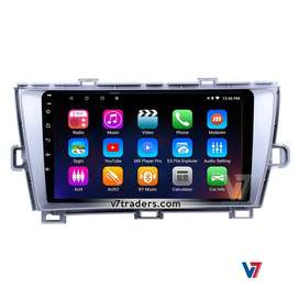 Toyota Prius Silver Frame Android V7 Navigation DVD Player Panel