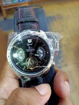 Di jual jam tangan carerra  mesin otomatis  jam berat standlish ,gold