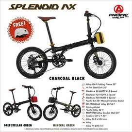 Kredit Sepeda Lipat Splendid AX 2X9 Speed ALLOY Dp 200 Cukup KTP