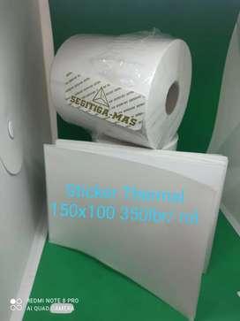 Direct Thermal Sticker 150x100 mm isi 350 lembar/rol merk Segitiga Mas