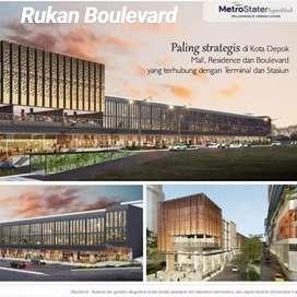 Rukan Boulevard depok Lokasi pinggir jalan nempel Terminal & Stasiun