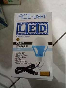 Lampu led usb 5watt colokkan adapter/powerbank new jantungaacc
