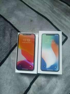 iPhone X 256gb Silver Ex inter Fullset Mulus BU