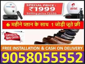 Tata Sky 6 Month Pack Ke Sath (Mrp-999) Shoes Free All india diwali TC