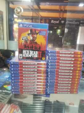Ps4 RDR2 brand new Regon all available