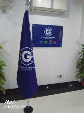 Indoor flag & pole for office decoration