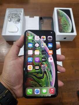 iPhone XS Max 64GB Grey, Tanpa Earphone, Original, Mulus dan Normal