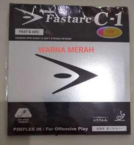 Karet tenis meha Nittaku Fastarc C1 merah, new, segel