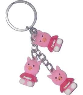 KEY RING SMALL PIG THREE