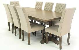 Fancy cushion chairs Brand New Dining table for sale
