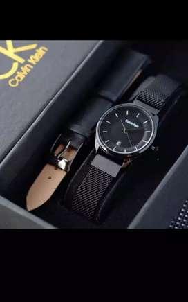 Jam tangan Calvin Klein wanita bisa buat kado,free strap tanggal aktif