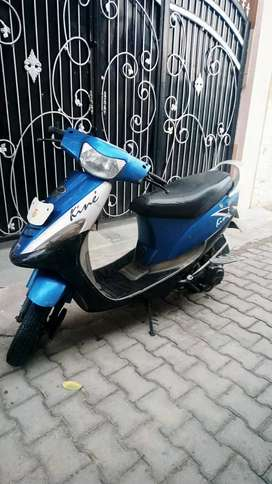 Kinetic Scooter,blue in colour ,give a good mileage