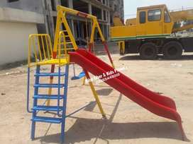 Kids slide with double swing