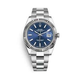 Datejust 41mm Silver Case Blue Dial Fluted Bezel 116334
