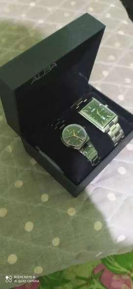 Jam tangan ALBA 2 pcs  lengkap 600.000