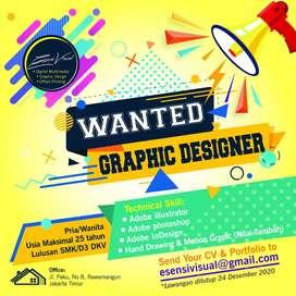 Lowongan graphic design /desain grafis