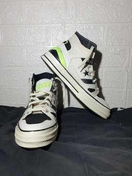 Converse White Green Stabilo Ori Size 44