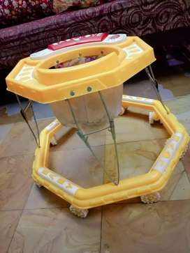 Yellow colour baby walker