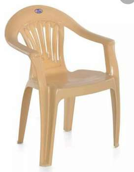 plastic stool rs 10 and chair rs 20