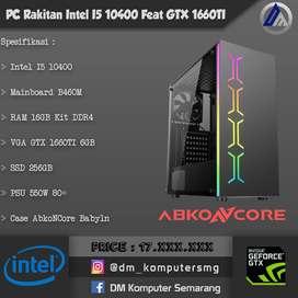 PC Rakitan Gaming Desain Intel I5 10400 VGA GTX 1660TI 6GB SSD 256GB