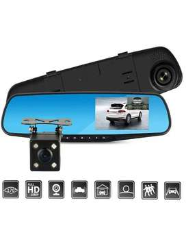 DVR Dash Camera Dual Channel Rearview Mirror Recorder
