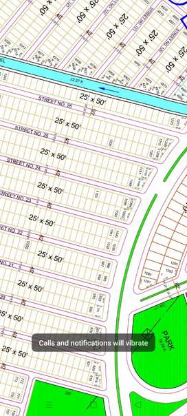5 marla plot en file available for sale in G block B17 Multi-Gardens