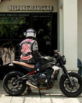 Kawasaki er6n custom scrambler