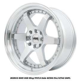 stock terabaru hsr wheel type Borgo ring 17 smfl