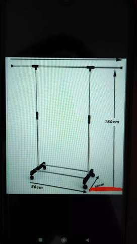 Gantungan Baju Stainless Single Pole