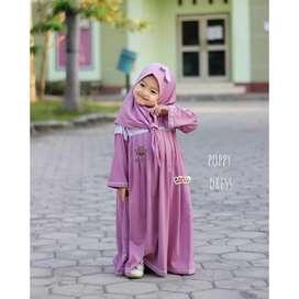 Poppy dress - eLBi - gamis anak kecil usia 1-6th - dress simple cantik