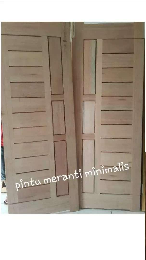 Pintu Kayu Steam Meranti, Merbau, Kamper, dll 0