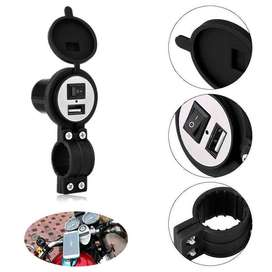 Motorcycle USB Charger Motor Adapter Switch Waterproof