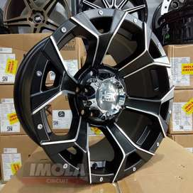 Velg mobil racing murah r16 HSR wheel baut 6x139,7 Black polis gresik