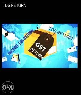 Income Tax return TDS return GST Return GST Registration & Tax classes
