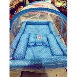 tempat tidur set kelambu