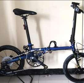 Sepeda Lipat Fnhon Gust U Break Blue Saphire. JUAL CEPAT !!!