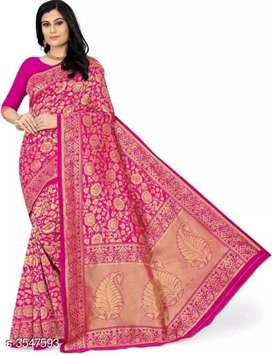 Stylish Banarasi Silk Women's Sarees only courier..COD available
