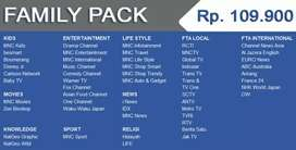 Tv terbaik Indovision Mnc Vision Family Pack tahan hujan top