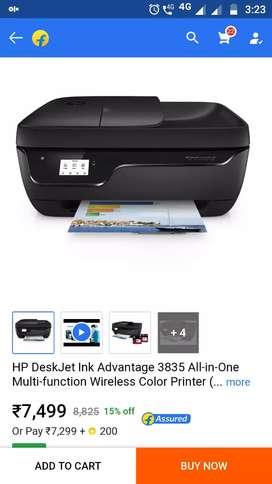 Hp deshjet ink advantage3835