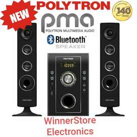 NEW!! Speaker PMA POLYTRON (Bluetooth,USB,Mic Input&RadioFM)