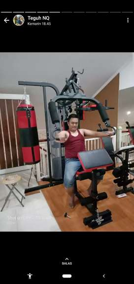 Home Gym 3 Sisi + Sansak Tl 077 /  Alat Olahraga / Ready Treadmill