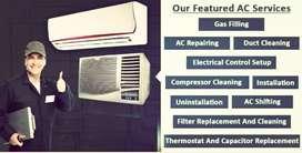 AC service installation
