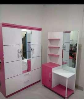 Lemari pakaian pintu 3 warna pink ( lp3) COD